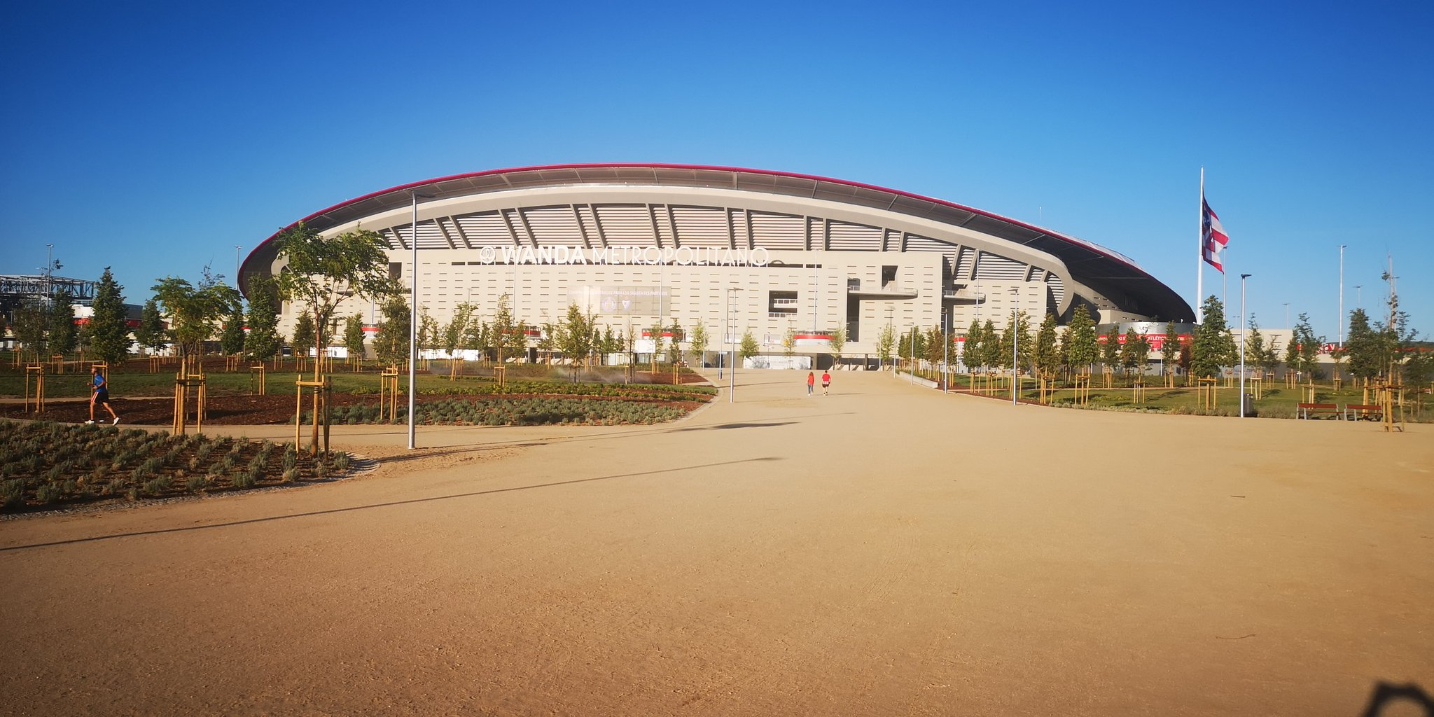 Imagen exterior del Wanda Metropolitano (Foto: NEstadioAtleti).