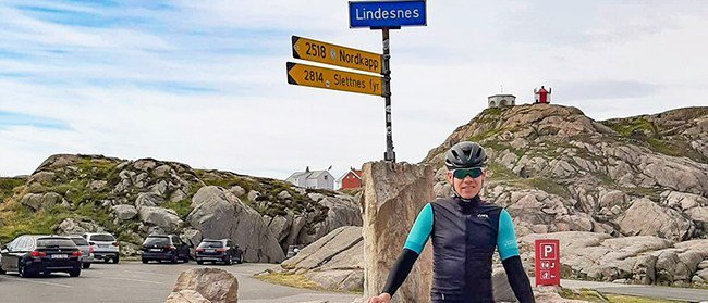 Lindesnes to North Cape in 6 days—bybike norwegianamerican.com/sports/erlend-…