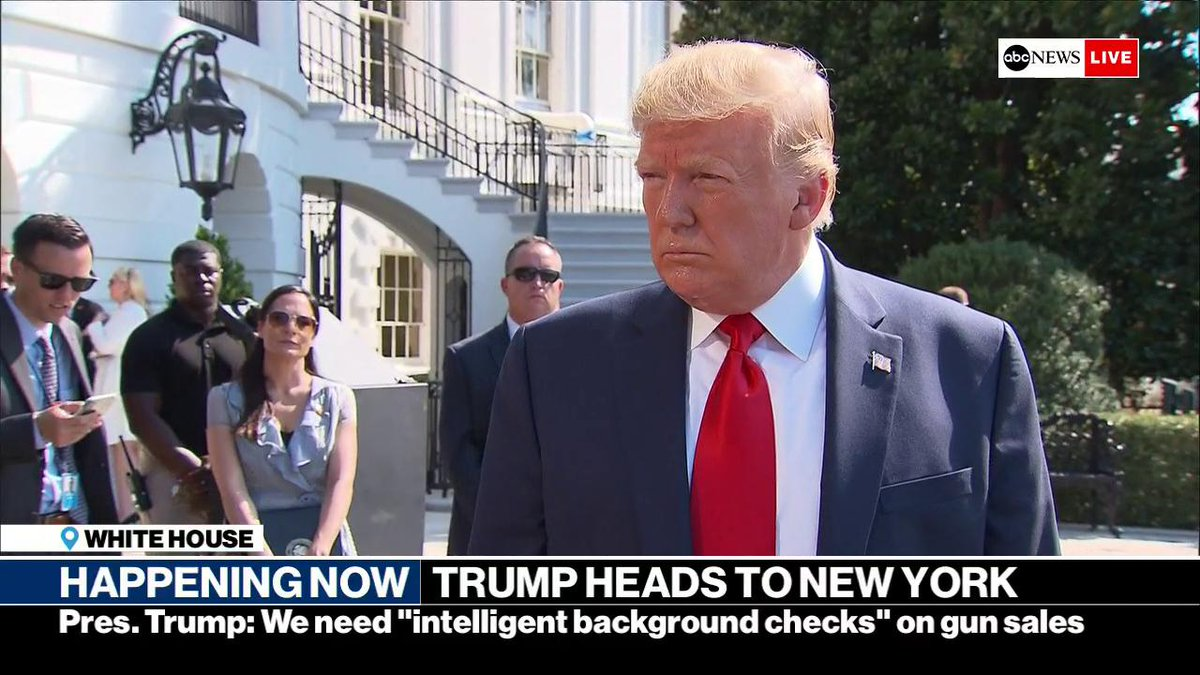 """""""Go and really study hard, and some day you'll grow up and maybe be President of the United States,"""" Pres. Trump tells students who may be nervous about starting school after mass shootings. """"They have nothing to fear, they have nothing to worry about."""" https://abcn.ws/2KPrhmr"""