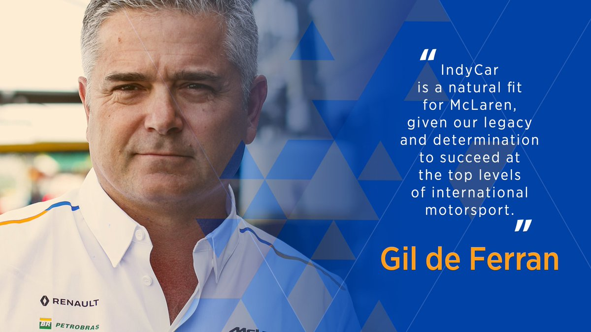 Sporting Director Gil de Ferran will lead our #IndyCar charge, managing a dedicated group from McLaren Racing, independent of our Formula 1 team.  Find out more ➡️ https://t.co/RvG5b1XAi7 https://t.co/PTClaMRUMG
