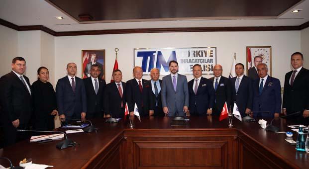 Hazine ve Maliye Bakanı Albayrak TİM'i ziyaret etti