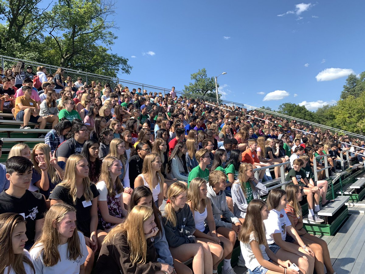 Say hello to the class of 2023 as they gather on Duchon for their first pep rally. Go West!