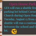 Image for the Tweet beginning: Important Open House Parking information!