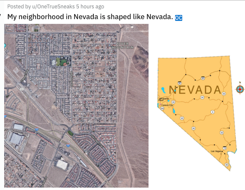 Bedtime Math On Twitter Some Mathfromabove On Today S Stop On The 50statesofmath Tour What Name Would Your Kids Give To Nevada S Shape Are There More Sides In This Neighborhood S Layout Or In