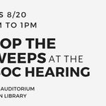 Image for the Tweet beginning: #StoptheSweeps – HSOC Hearing –
