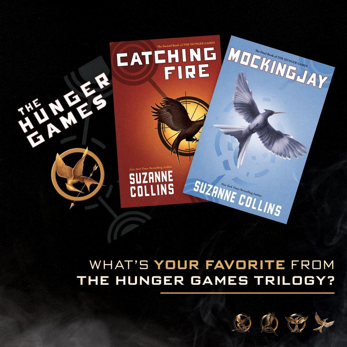Which is your favorite from the trilogy? 📚 #HungerGames #BookLoversDay https://t.co/ymAiE2sZJp