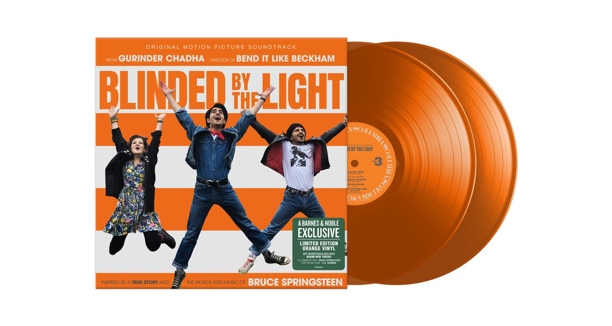 Pre-order the #BlindedByTheLight soundtrack on limited edition orange vinyl today - available in the US exclusively at Barnes and Noble on Aug 30 BlindedByTheLight.lnk.to/PreOrderFA/bar…
