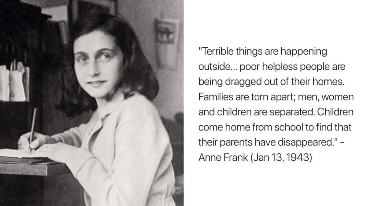 It sounds like Anne Frank was writing about the U.S. in 2019. Unreal.  #ICEraids #ICEraidsMS #ICE #MississippiRaids #Resist #Trump #1u #tcot #maga #usa #Mississippi #AnneFrank #ImpeachTrump<br>http://pic.twitter.com/Tpnok7DgvB