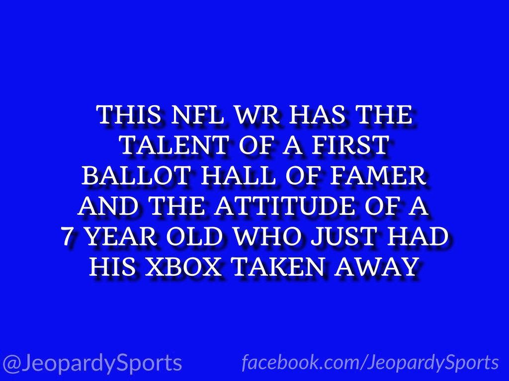 """Who is: Antonio Brown?"" #JeopardySports #Raiders"