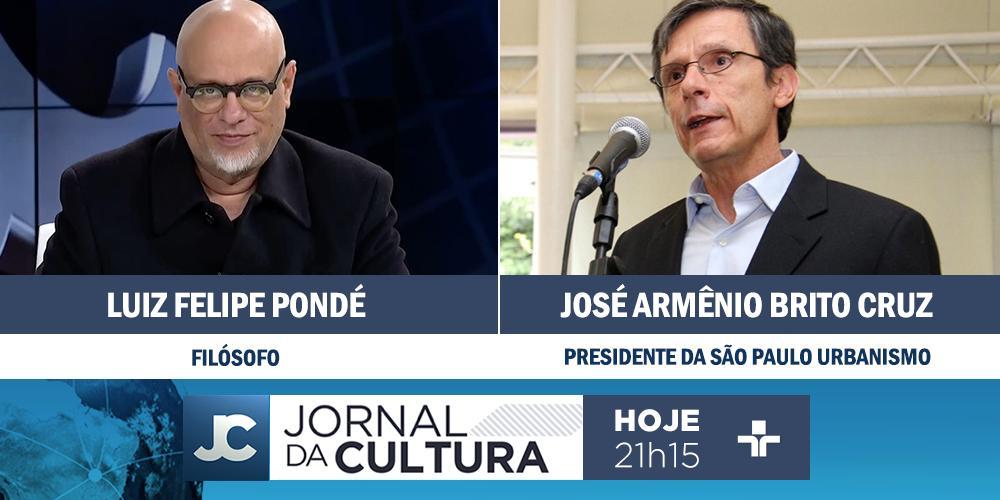 DAQUI A POUCO: @KarynBravo e Ana Paula Couto recebem os comentários do filósofo @lf_ponde e do presidente da São Paulo Urbanismo, José Armênio Brito Cruz. Às 21h15. #JornaldaCultura