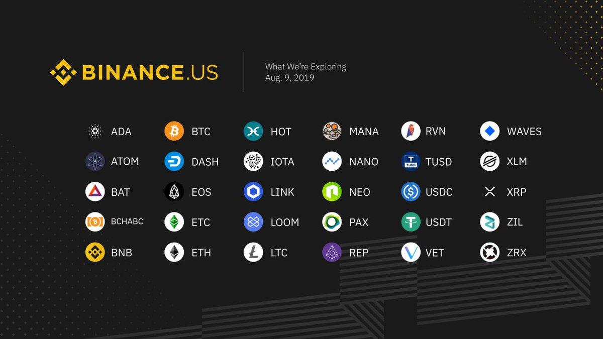 仮想通貨大手バイナンスは、バイナンスUSで30種のデジタル資産をサポートすることを検討している$BNB !! $BNB !!ってかコインベースが検討してるIEO銘柄くらいこん中入れとけよ?