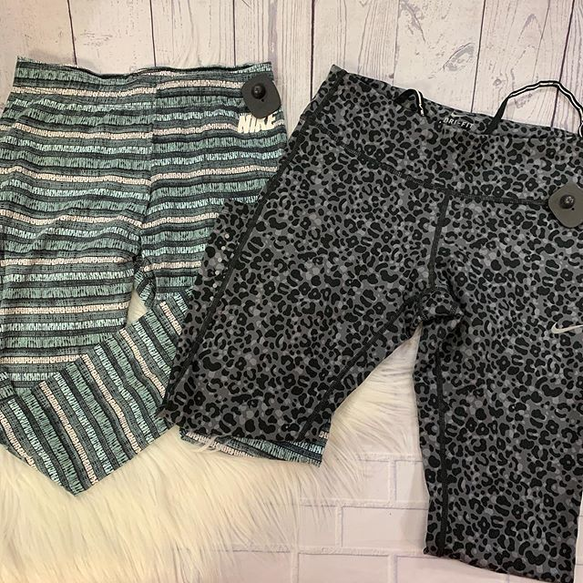 #athleisure #casualandcute  Nike Dri-fit capris both size M  Striped: $12 Animal print $12.75  To purchase give us a call at 610-455-1500, send us a DM of this post with your PayPal email or stop in store before 9pm  Have designer goodies that you'… https://ift.tt/2YVrDwHpic.twitter.com/ushjlf6B5j