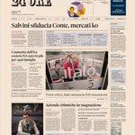 Image for the Tweet beginning: La prima pagina del @sole24ore