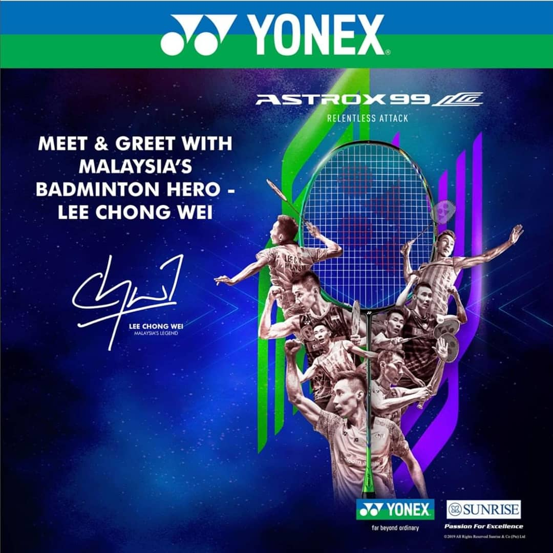 Hey friends and especially Ipohmali-s, next Saturday what are you up to?Come and join me for the Astrox99LCW Racket Launching (Malaysia Stop) organized by Yonex-Sunrise.