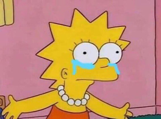 Reaction Pics More On Twitter Lisa Simpson Crying
