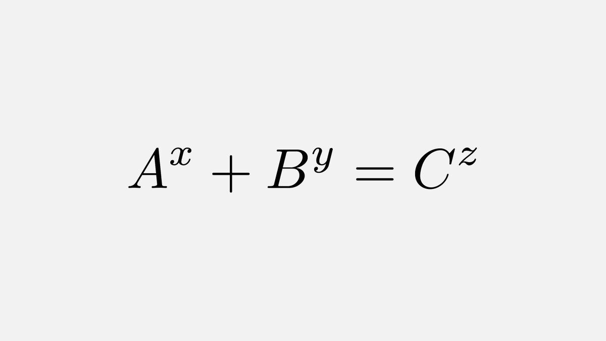 In 1997, the Texas banker Andrew Beal noticed that for any solution of Aˣ+Bʸ=Cᶻ he could find, A,B,and C had a common factor (e.g. 3⁶+18³=3⁸, 3 is a common factor). Theres currently a $1 million prize for a proof or counterexample of the Beal conjecture.