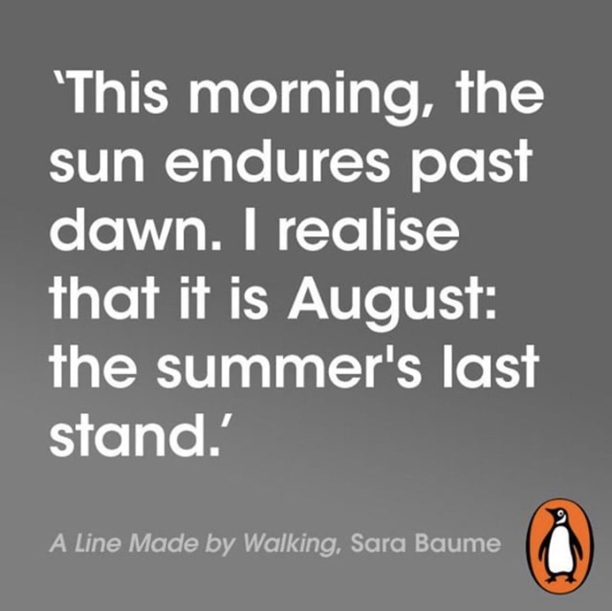 This morning    it is August: the summer's last stand