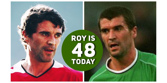 Happy Birthday Roy Keane Born 1971 in Cork thank you for all the joy, drama, and being a winner.