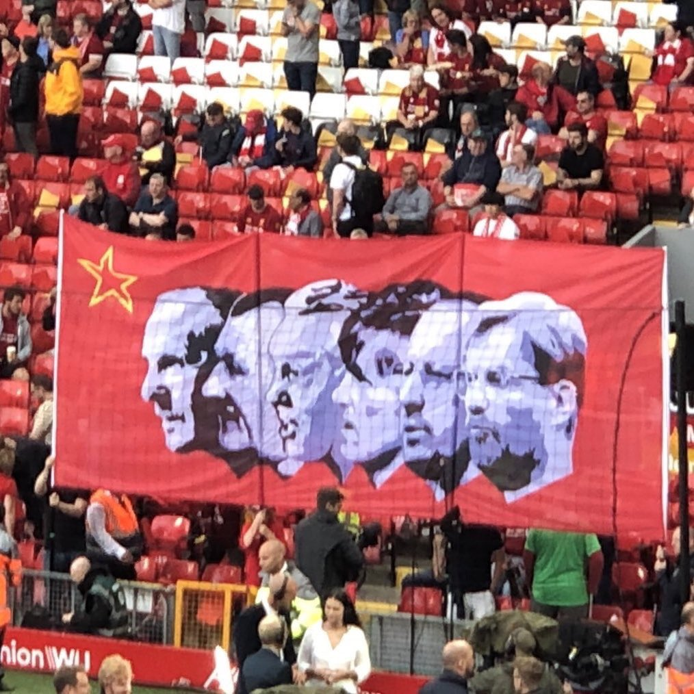 A new face added onto the banner on the Kop 😍😍