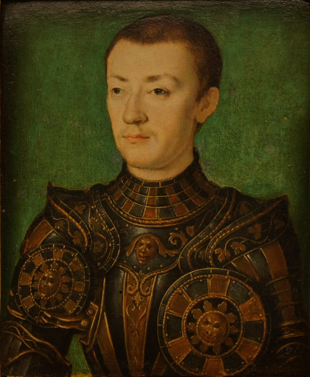 History of Portraiture on Twitter: Died #OnThisDay in 1536: #Dauphin Francis  III, #Duke of #Brittany (1518-36), son of #King #FrancisI of #France  #Portrait by Corneille de Lyon (1500/10-75), 1536 #FrançoisI #Valois  #FrenchRoyalty #