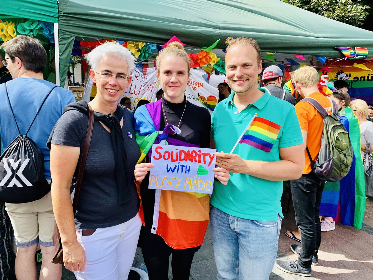 Solidarity with #MarszRownościPłock from #RuhrCSD in Essen. 🌈🌈🌈🌈🌈