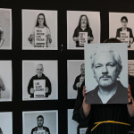 Checkout the #WeAreMillions photo exhibit for Julian Assange. It's back up in #MediaCityBergen after censorship provoked public outrage. (Photos: Øistein Jakobsen)  Get involved here: https://t.co/hrc8NlXoJQ  #FreeAssangeNOW