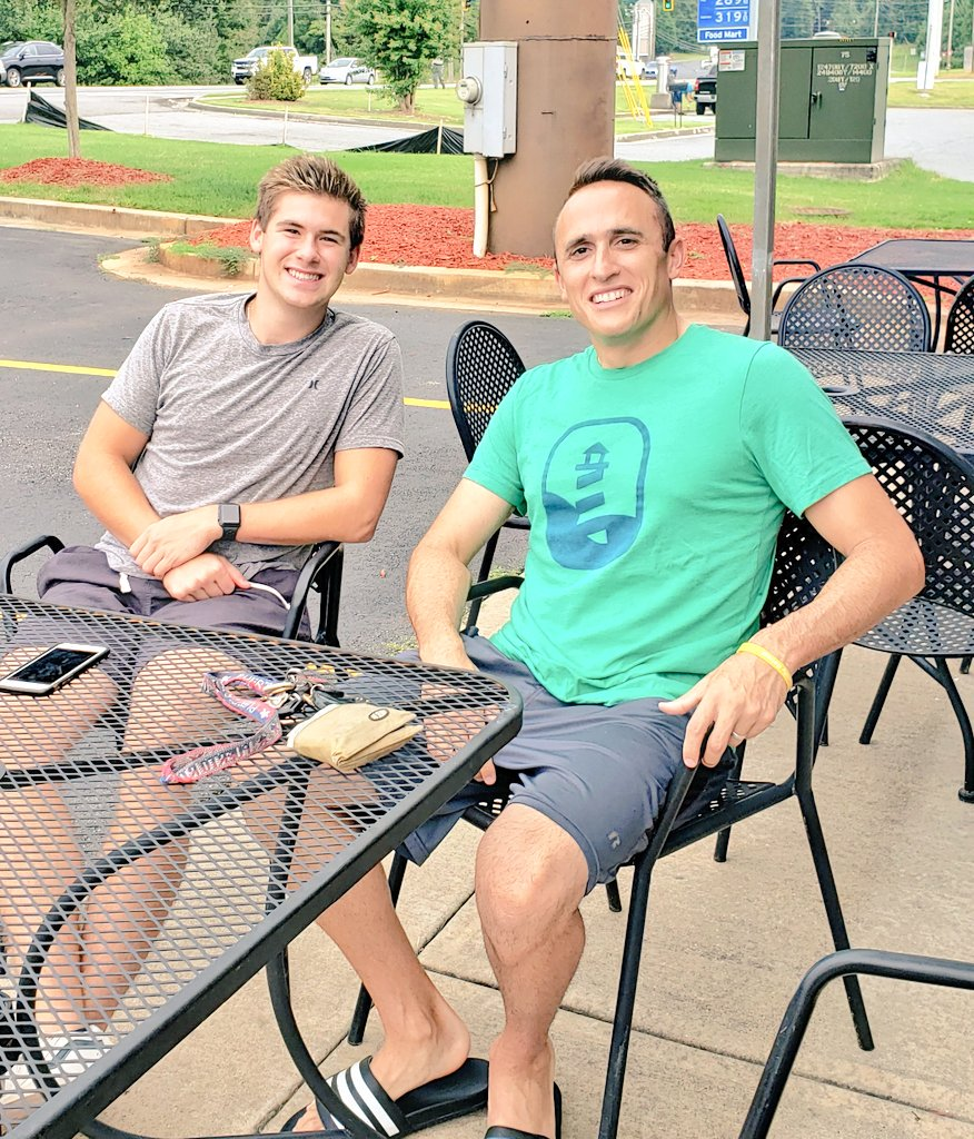 Gr8 breakfast hanging out w/ a former student! Proud of you Jake and the person God is molding you into!