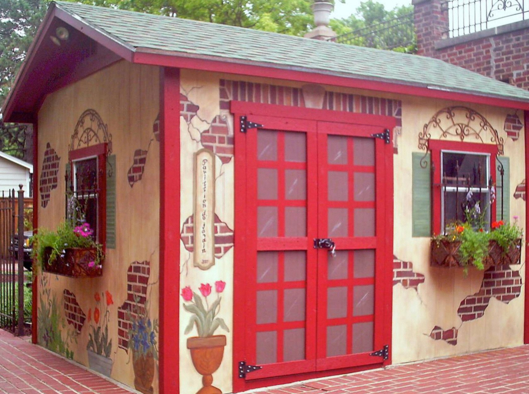 как украсить дачный домик своими руками фото появление