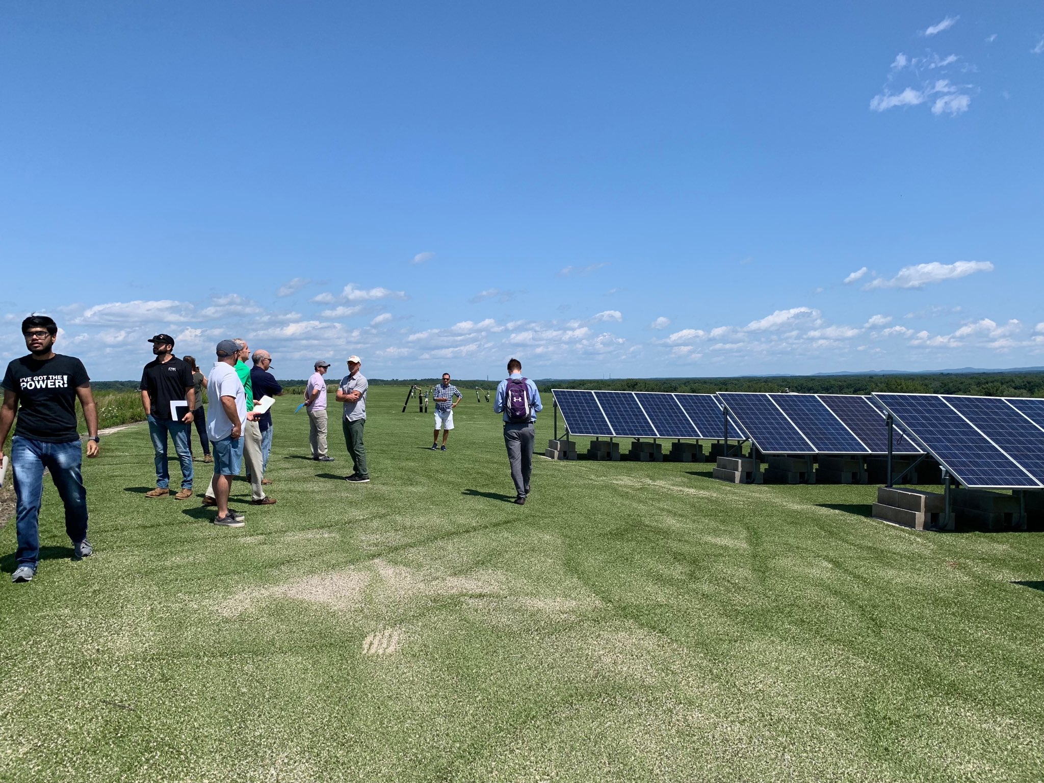 Picture of a tour at the solar panel installation on the former Hartford Landfill