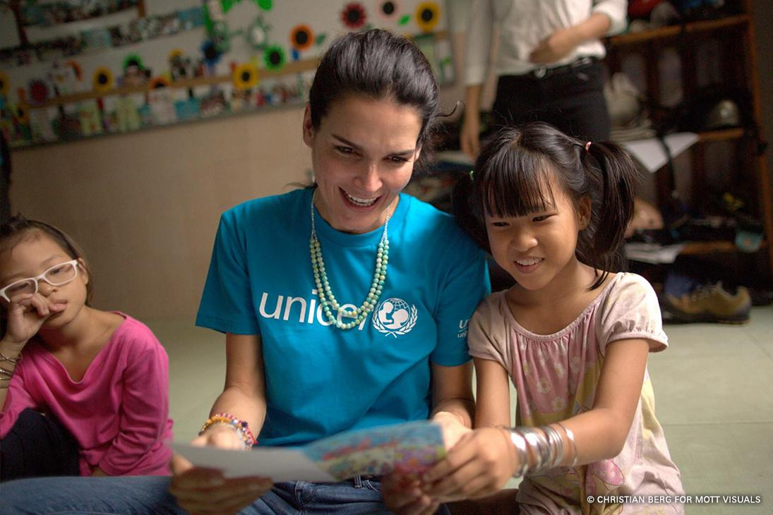 Happy Birthday 🎉 to UNICEF Ambassador @Angie_Harmon — thanks for everything you do #ForEveryChild!