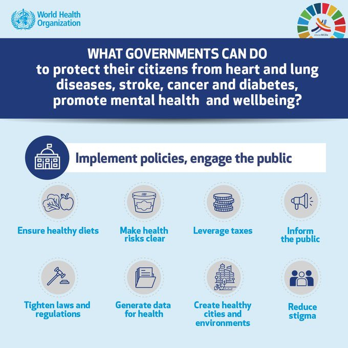 This is what governments can do to #BeatNCDs.