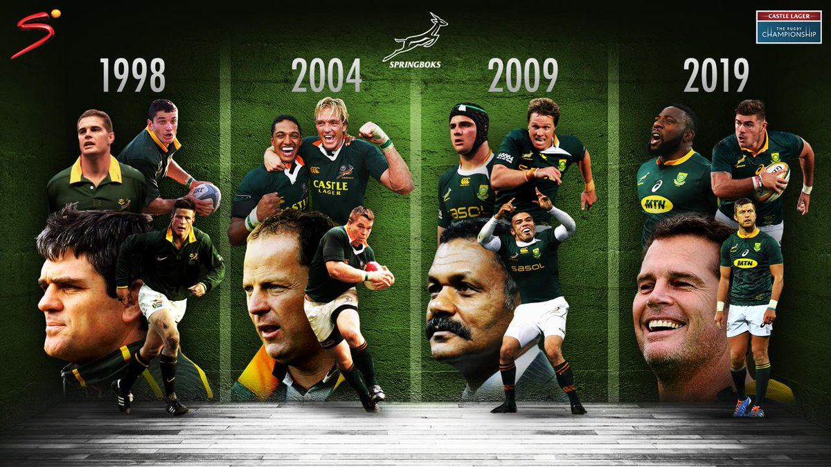 1998 ✅ 2004 ✅ 2009 ✅ 2019 ✅ @Springboks coach Rassie Erasmus was there as a player when South Africa won their first Tri-Nations tournament in 1998, hes here 21 years later and wins it as the coach 👏🇿🇦