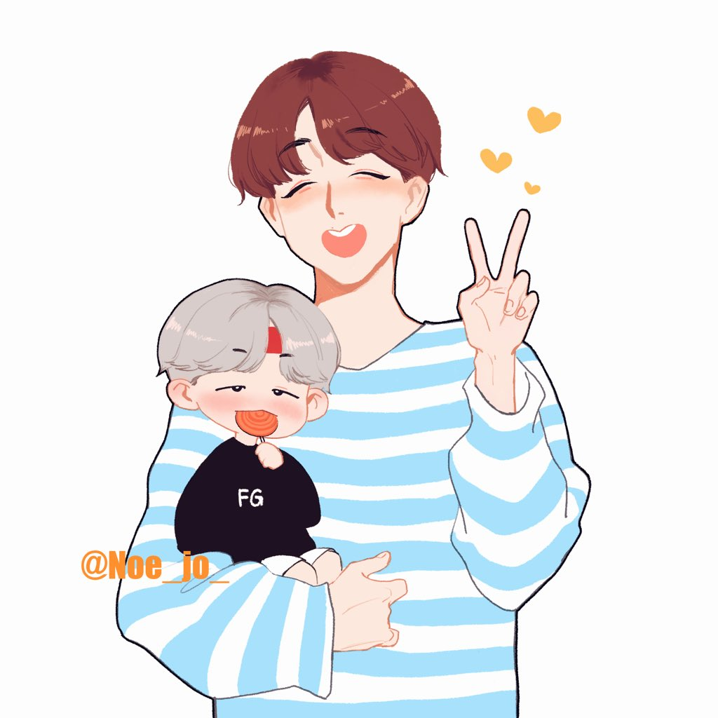#SOPE #sope #BTSfanart Hoseok with little suga / Yunki with little hobi