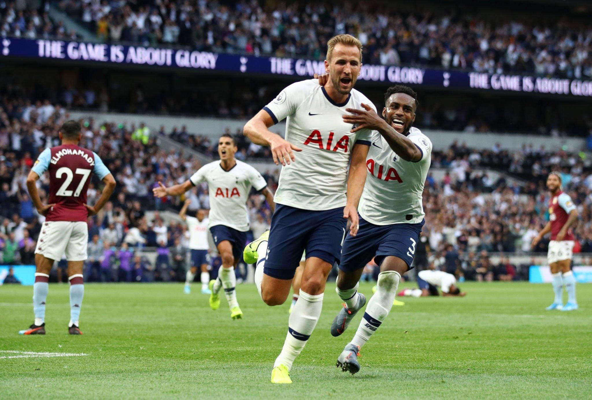 أهداف فوز توتنهام على استون فيلا في الدوري الإنجليزي