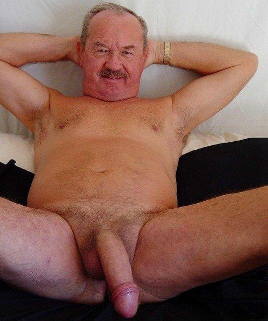 Kinky Grandpa Plays With Cock