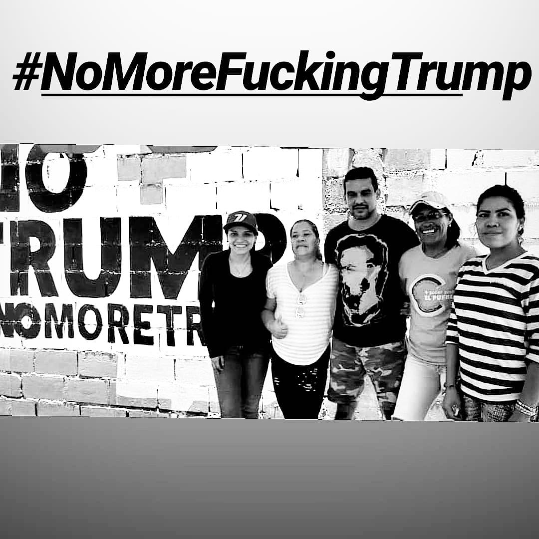#BarcelonaContraTrump no he firmado pero ya hicimos el mural... Vale igual no? #NoMoreTrump