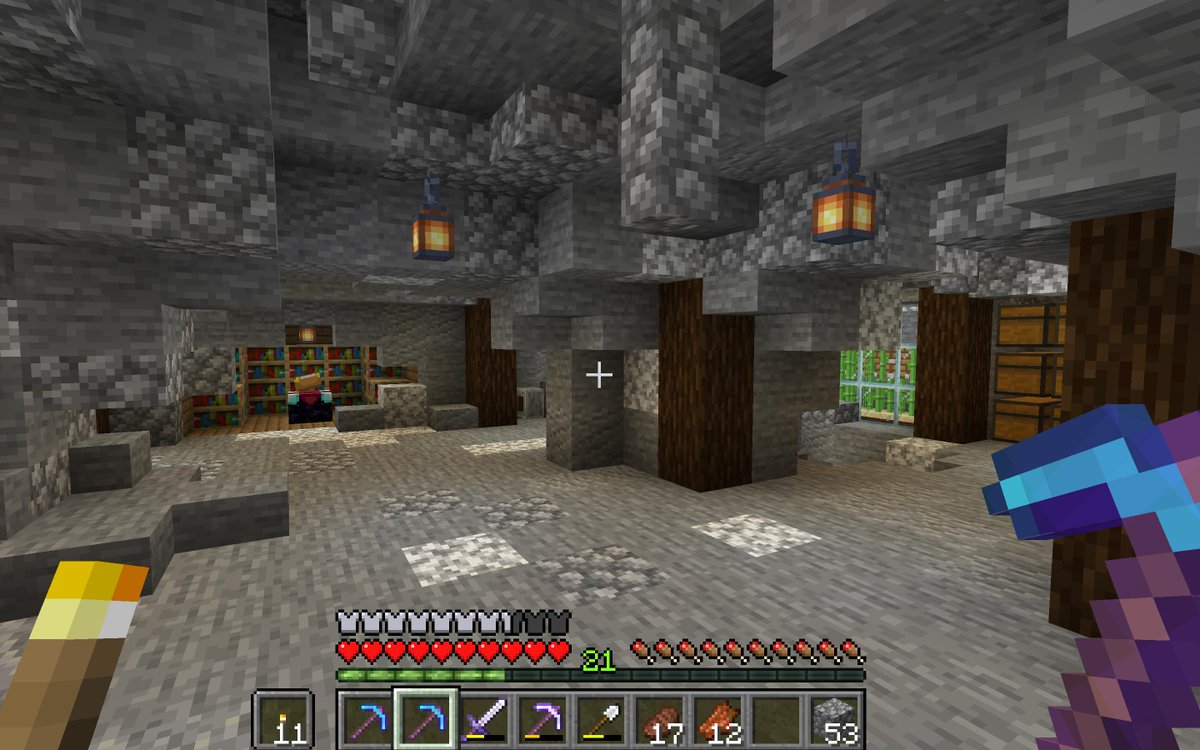 """rob on Twitter: """"my current minecraft cave house """""""