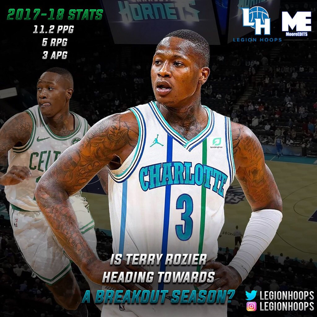 RT @LegionHoops: Terry Rozier is the newest leader in Charlotte. Is his breakout season incoming? https://t.co/QahRHQLWwT