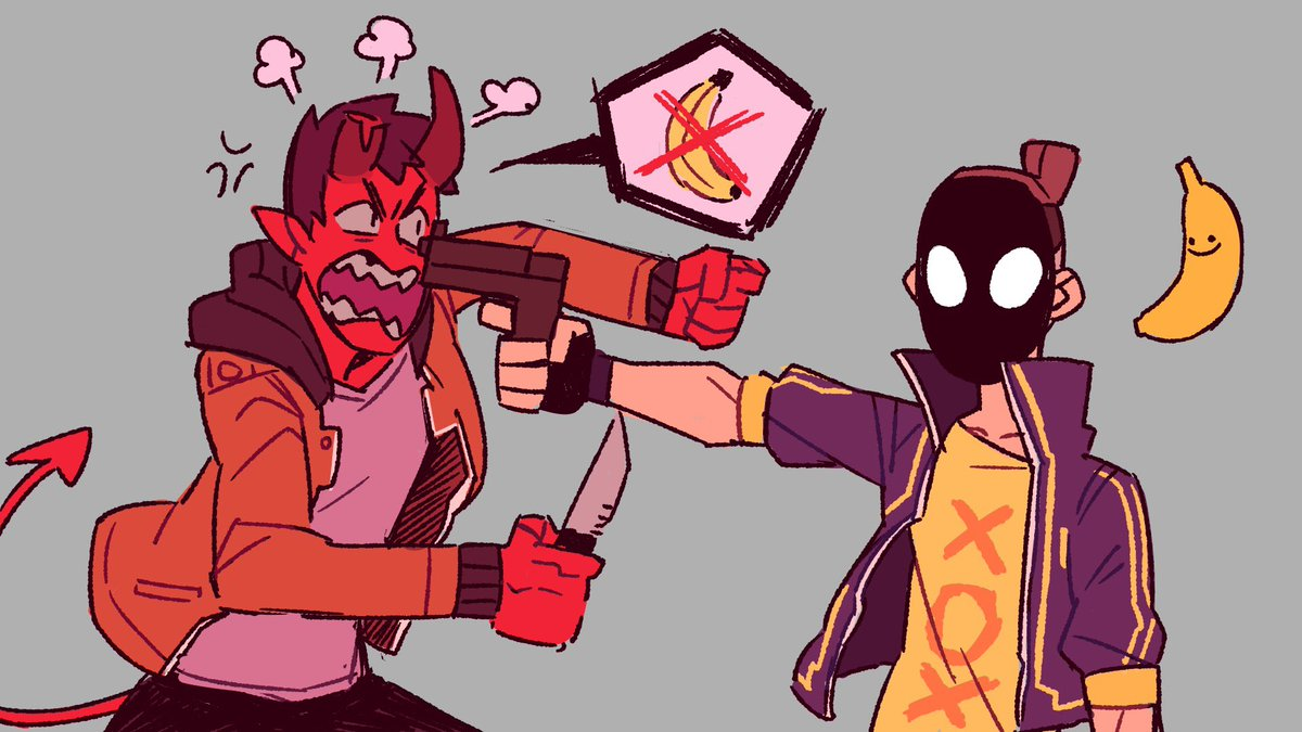 Monster Prom On Twitter Damien Hates Bananas And Our Artist