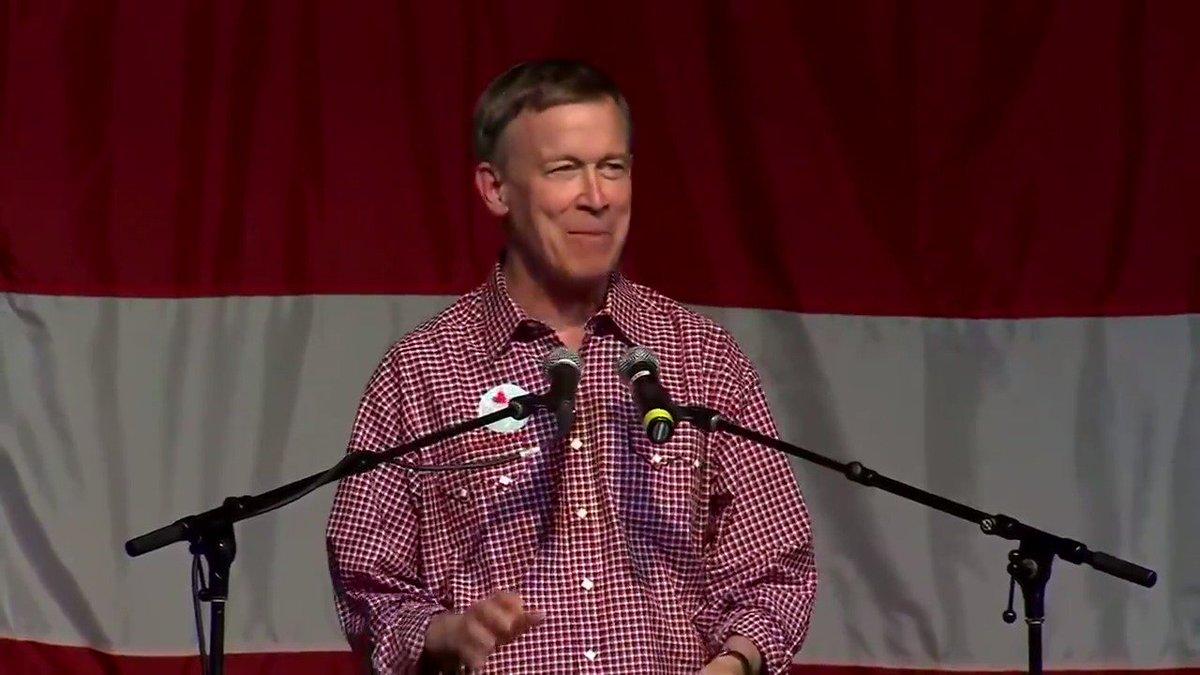 John @Hickenlooper speaks at Iowa's Wing Ding Dinner.