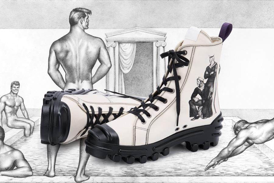 Remaining pairs of #TomOfFinland x @eytys Magnum shoes on sale through Monday. Very few pairs remain of these limited edition shoes. Link in Bio.<br>http://pic.twitter.com/AsAaEm5JHg