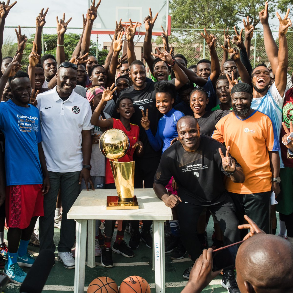 Taking the Trophy back to where it all began gave me chills. I would not change anything about my youth. WOW. Zaria!!!! Seeing all my friends and teammates, house where I lived, was such a joy. Thank you Coach OBJ, for bringing ball in my life. –Masai Ujiri
