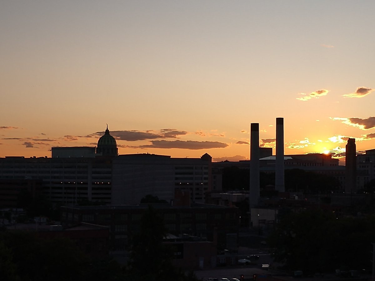 View of the office from @YWCAHarrisburg at sunset.