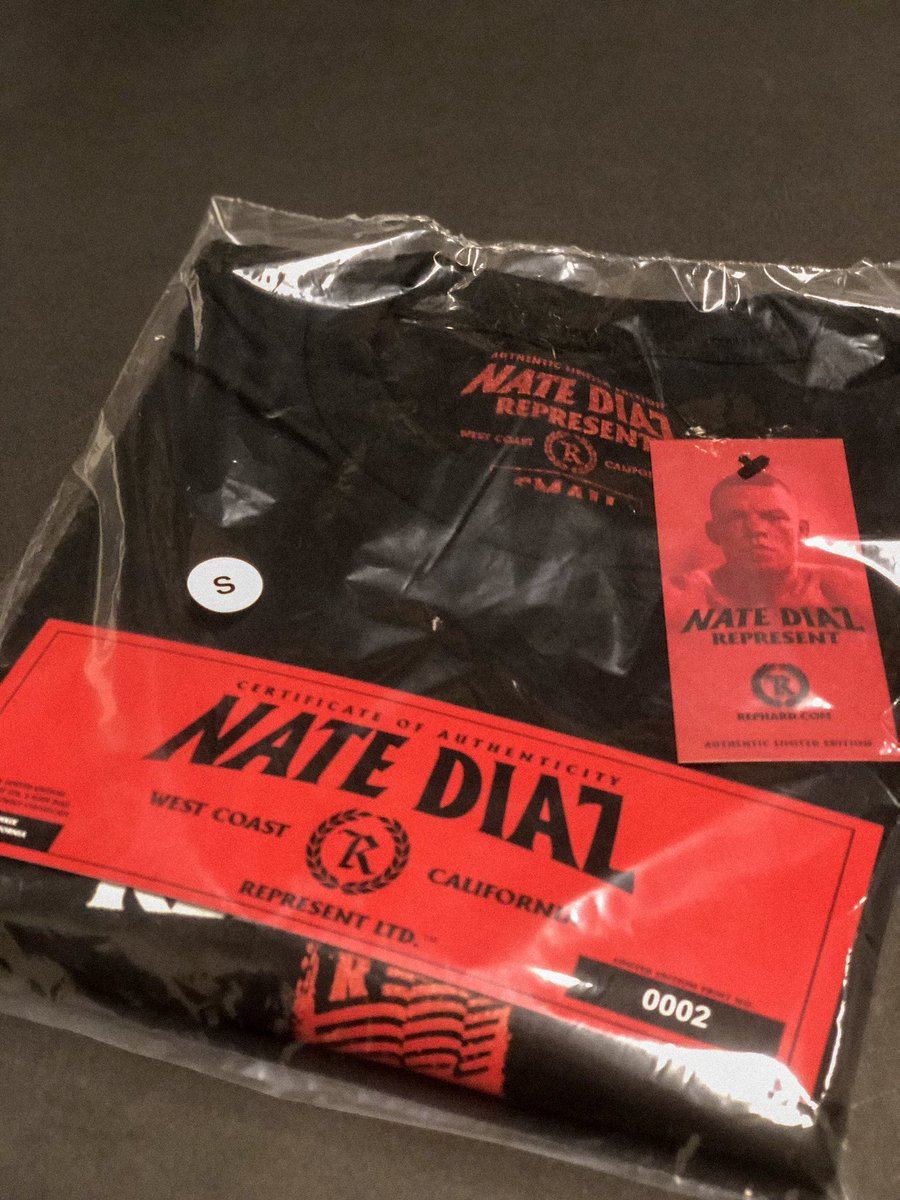 READY TO GO 💯  http://REPHARD.com [Nate Diaz Limited Edition Walkout Tee each official print comes with a certificate of authenticity with a unique sequential number]  #represent #natediaz #ufc241 #wardiaz #thediazshow #neverestablished