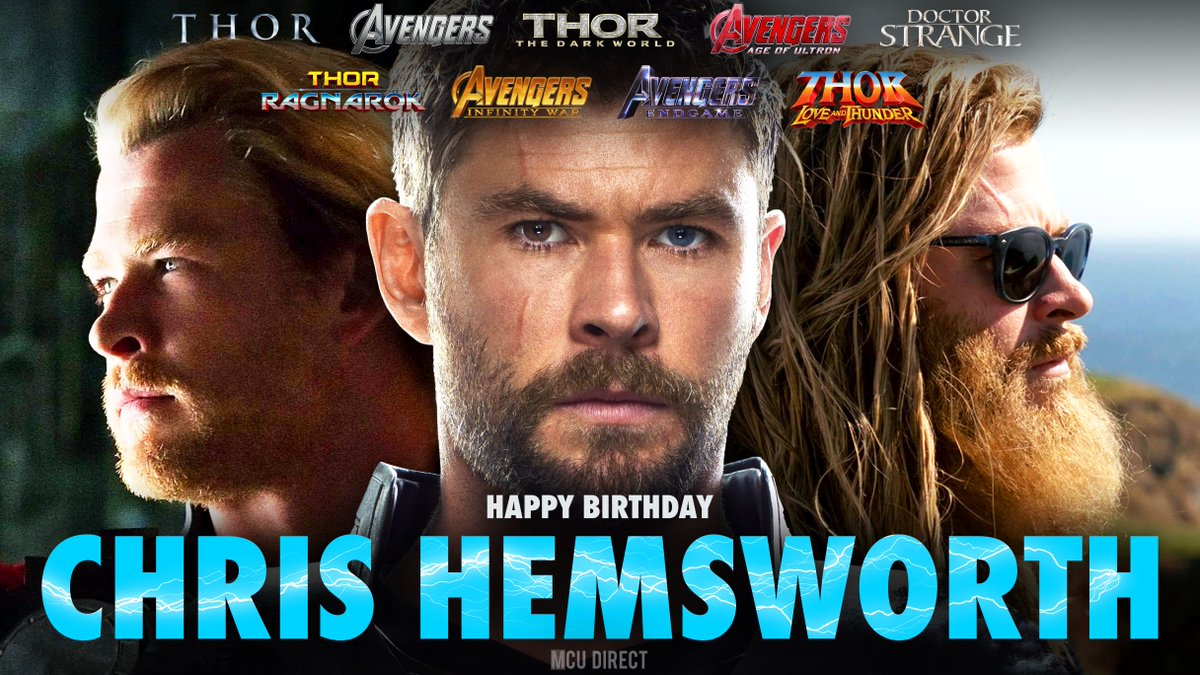 Today we wish a very happy 36th birthday to the MCU's very own Thor, actor @chrishemsworth!