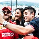 #Seb5 – the unofficial master of fan selfies 🤳  #essereFerrari 🔴