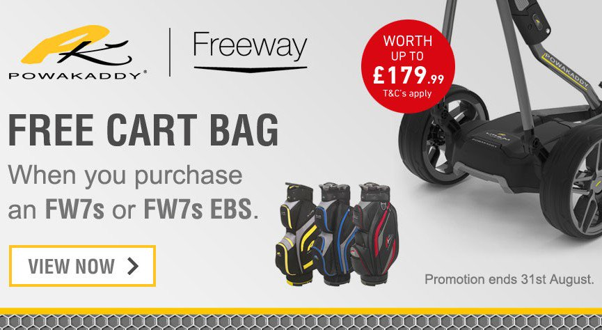 Dont Miss Out on this fantastic offer!! Visit @ChgstoreUk and Pick up a Powakaddy FW7s/EBS Lithium Trolley and claim a FREE bag worth up to £179.99 ✅ Interest free finance just £64.33per month ✅ Priced from £579 ✅ Free Accessory Worth £21.99