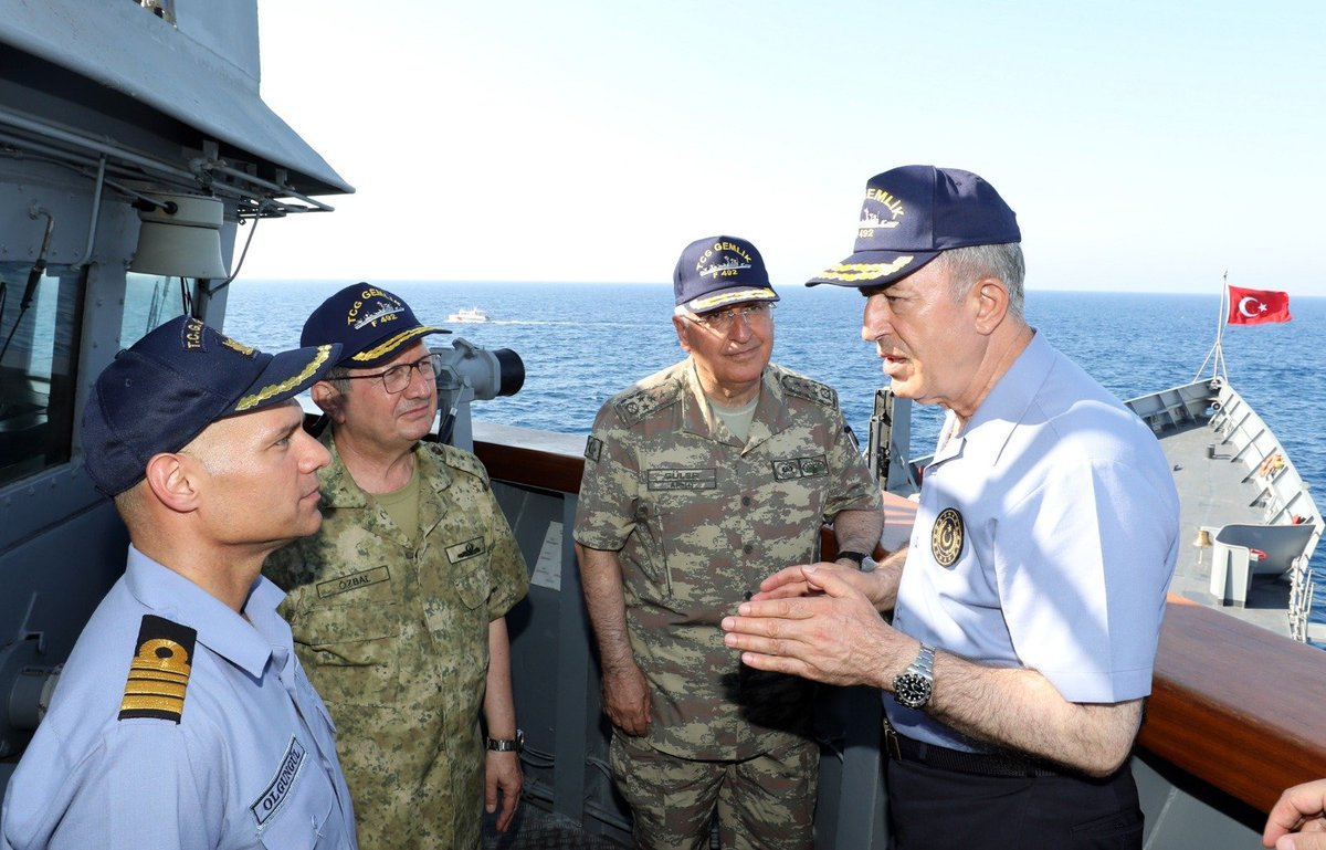 """قبرص تتهم تركيا بتبني """"دبلوماسية السفن الحربية"""" EBrMCrnXkAAOMaK"""