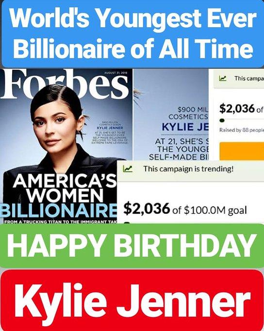 HAPPY BIRTHDAY  Kylie Jenner WORLD\S YOUNGEST BILLIONAIRE