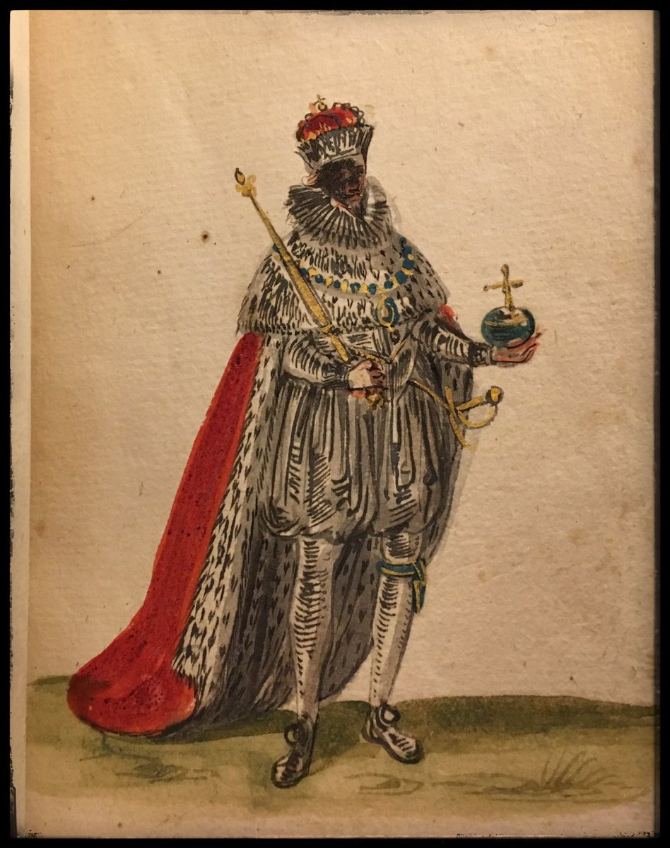 Images drawn by Joachim Camerarius (1603-1687) from the coronation of King James I. Joachim had moved to study in England, there he painted these images.  BL, Egerton MS 3039.  @MStuart3462  #17thCentury <br>http://pic.twitter.com/ymh85TE8ng